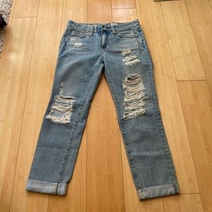 AG the Beau the boyfriend skinny distressed jeans